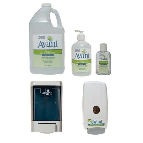 Avant Original Fragrance-Free Instant Hand Sanitizer and Dispensers