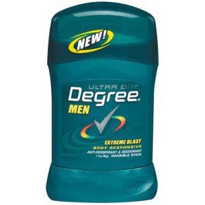 Degree Mens Invisible Solid Deodorant, Extreme Blast, 1.6 oz