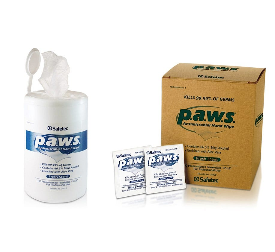 PAWS Antimicrobial Towelettes