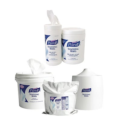 Purell Sanitizing Hand Wipes and Wall Dispenser
