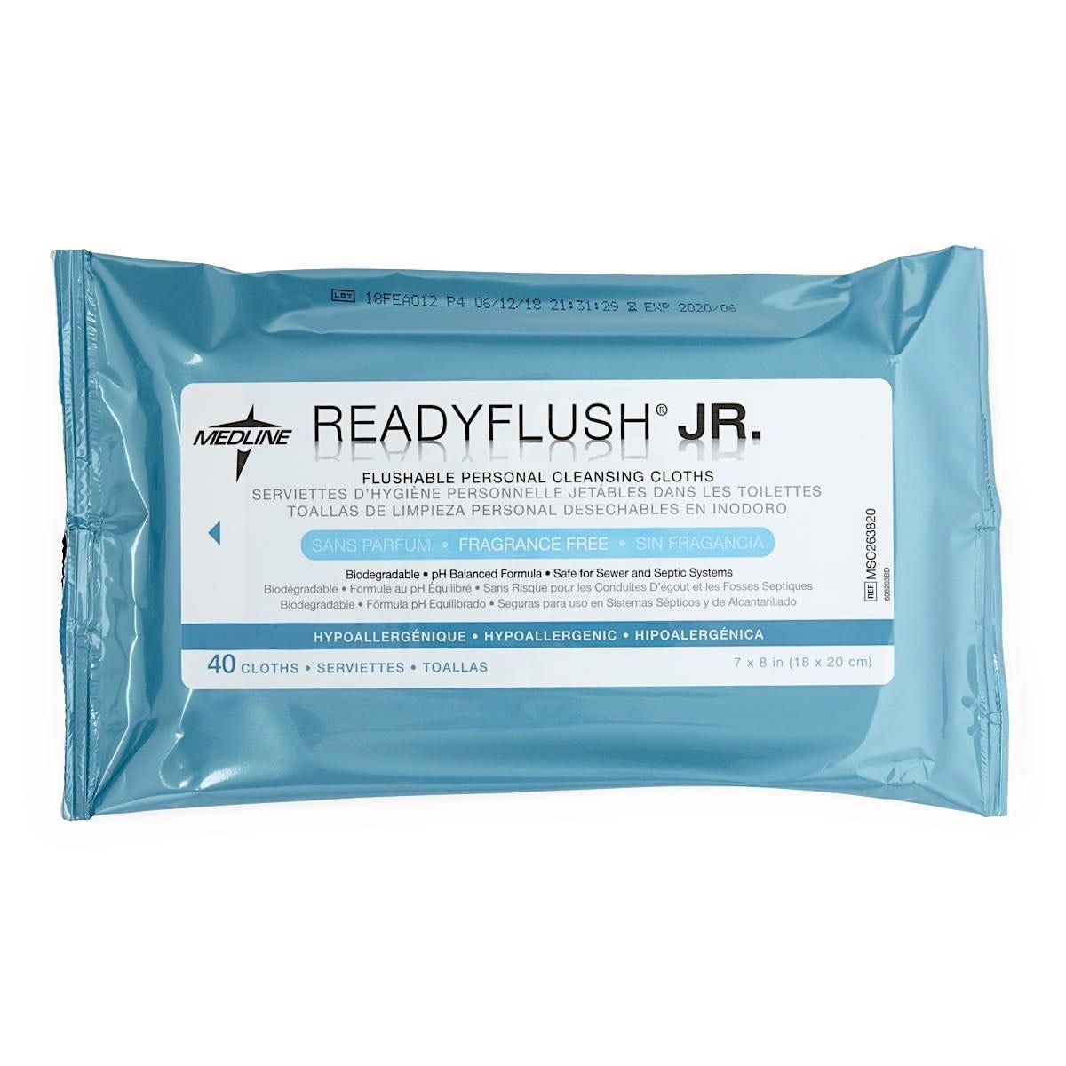 ReadyFlush Biodegradable Flushable Wipes, 40/Pack