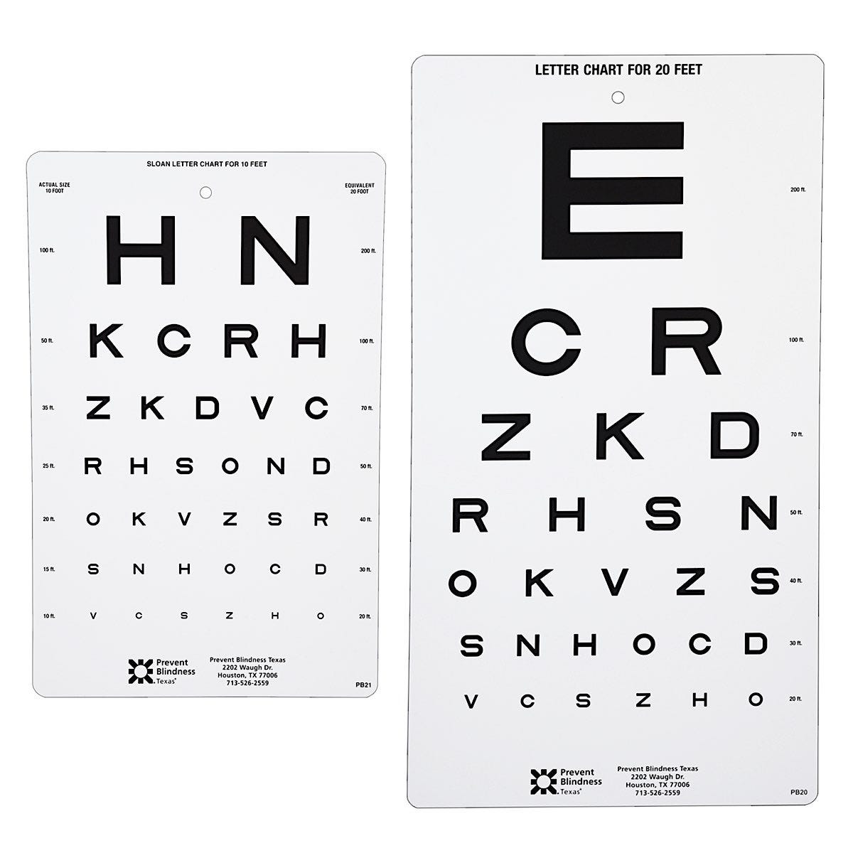 Prevent Blindness Texas Visual Acuity Charts