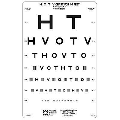 Prevent Blindness Texas HOTV Chart Set