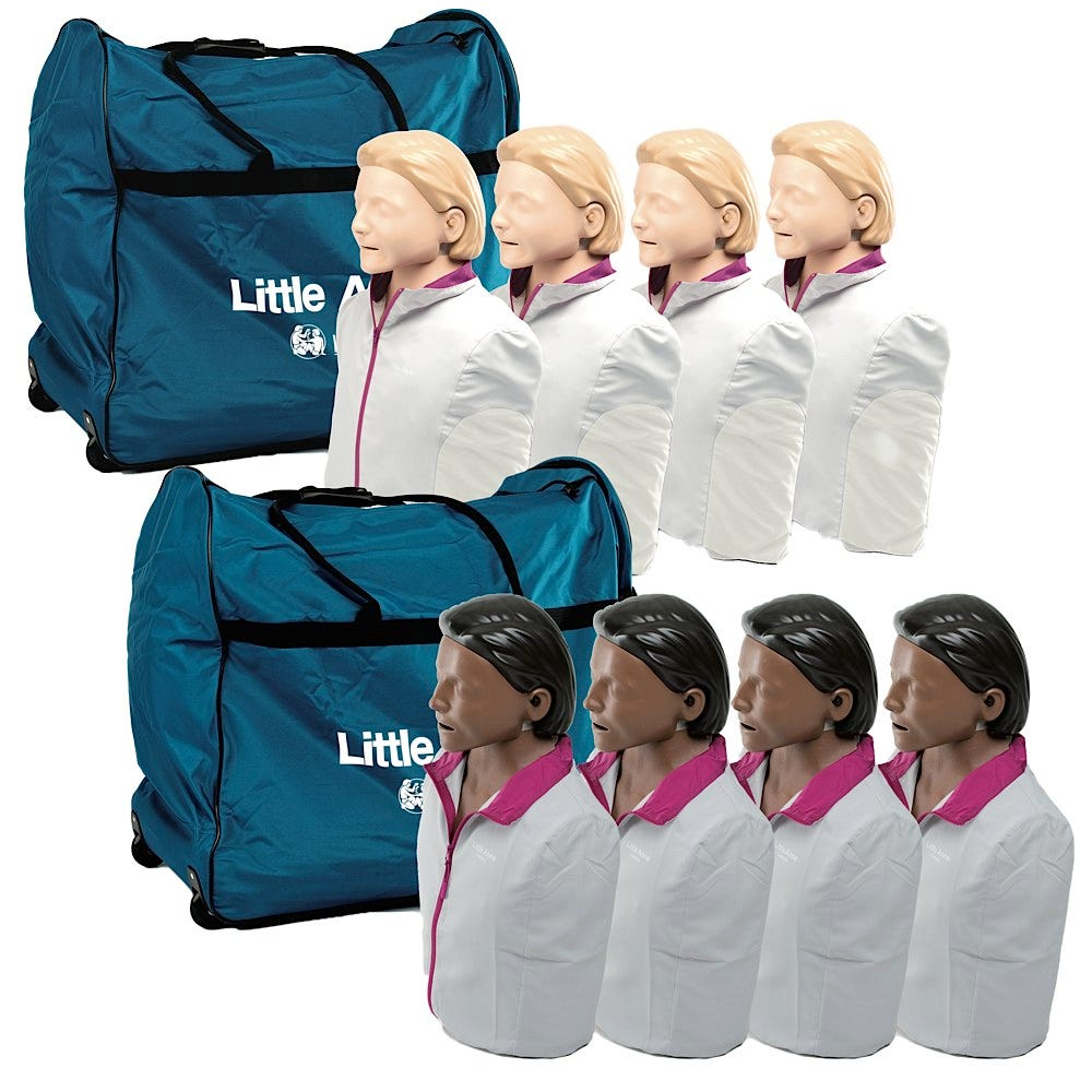 Laerdal Little Anne CPR Manikin Four-Pack with 24 Disposable Airways