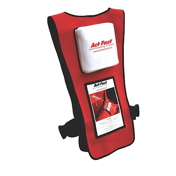 Act Fast Anti Choking Trainer, Red (American Red Cross Protocol), 4/pack
