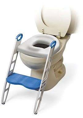 Contoured Cushie Step-Up Padded Potty Seat with Step Stool