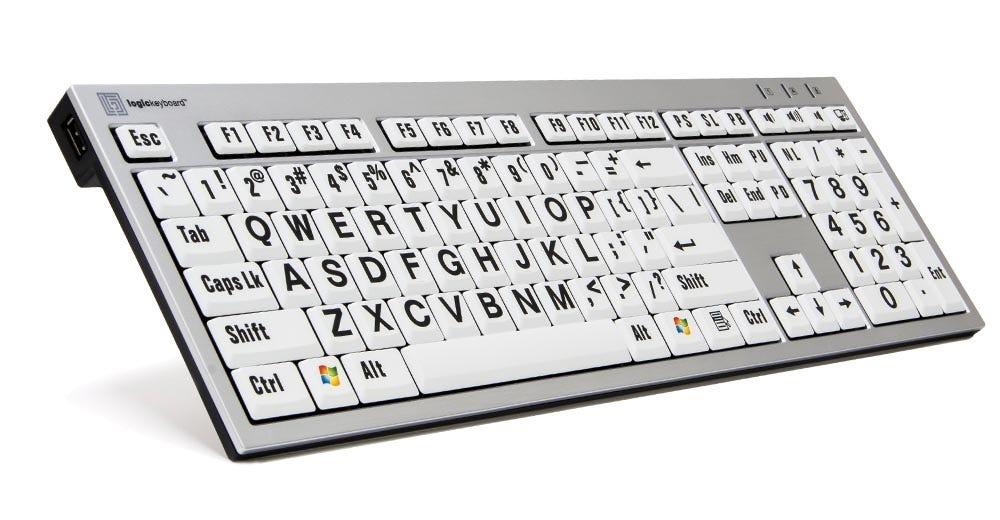 PC Large Print Slim Line Keyboard