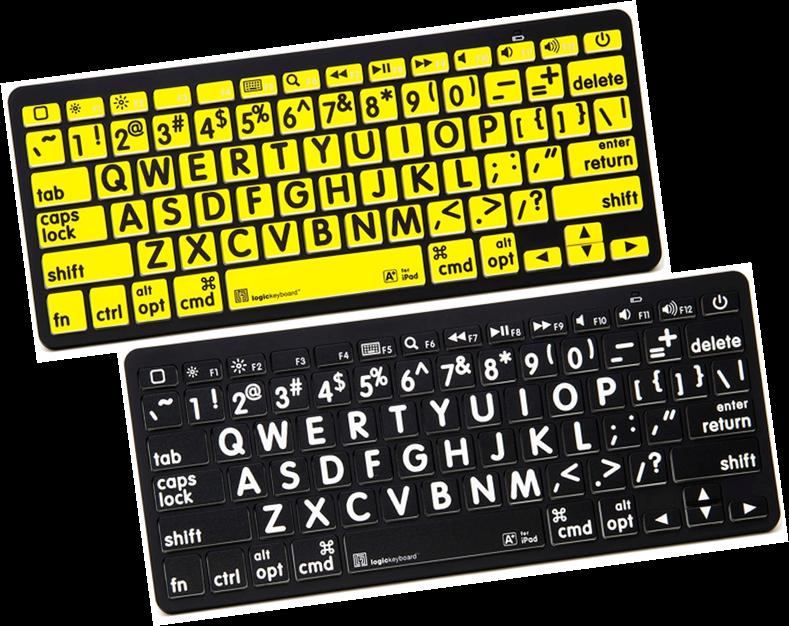 Large Print Mini Bluetooth Keyboards