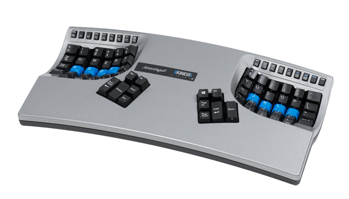 Advantage2 Silver Contoured Keyboard