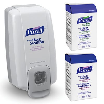 Purell NXT Space Saver Instant Hand Sanitizer Dispenser and 1000 mL Refills