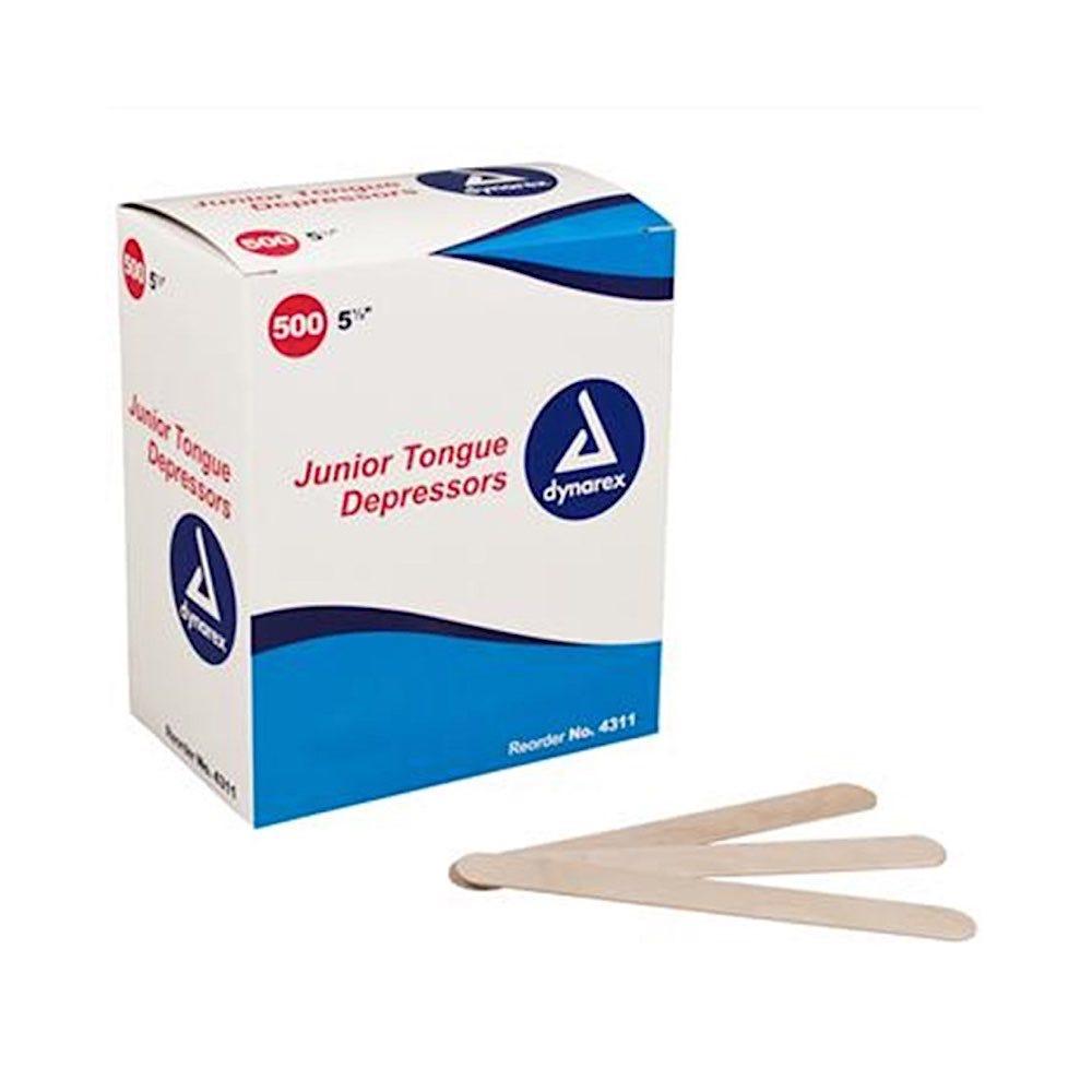 Dynarex Junior Tongue Depressors, 500/Box