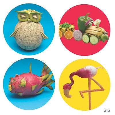 Foodscapes Universal Stickers, 200/roll