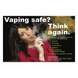Vaping Safe? Woman in Red