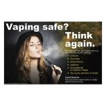 Vaping Safe? Women with Hat