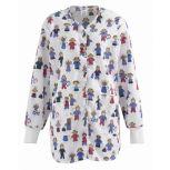 Stick People Print Ladies Warm-Up Jackets