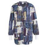 Indigo Collage Print Ladies Warm-up Jackets