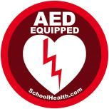 School Health AED Decal