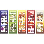 Fruits and Vegetables by Color Poster Set