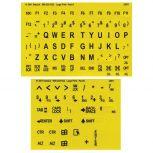 Large Print Braille Keyboard Labels