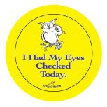 Eyes Checked Stickers - 100/Roll