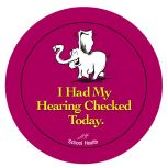 Hearing Checked Stickers - 100/Roll