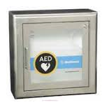 Physio-Control Stainless Steel AED Wall Cabinet with Alarm, Strobe