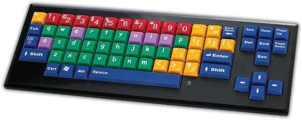 MyBoard Lower Case Color Coded Keyboard