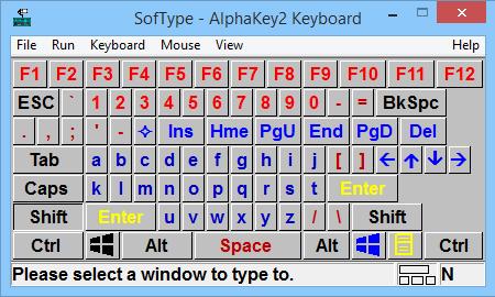 SofType On-Screen Keyboard for Windows