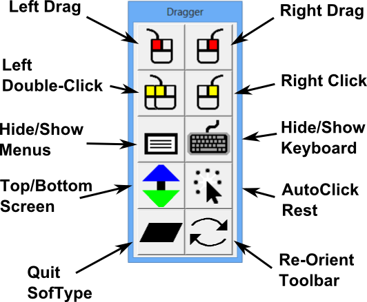 Dragger Mouse Button Utility for Windows